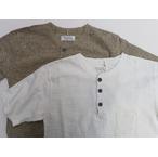 ORGUEIL-オルゲイユ- 落ち綿を使用し吊り編み機で編み立てたヘンリーネックTシャツ 2色 日本製