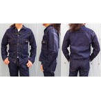 桃太郎ジーンズ 高級ライン 銀丹レーベル 2103SL  ヨコ糸にシルク(絹)糸を使用した2ndタイプデニムジャケット 14.5oz 日本製