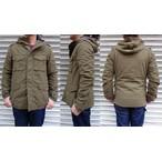 桃太郎ジーンズ 撥水加工を施した軽くて暖かいシンサレート中綿入り フィールドジャケット アーミーグリーン 日本製