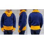 FULLCOUNT-フルカウント- 2トーンが魅力!ショールカラーセーター  日本製