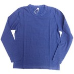pure blue japan -ピュアブルージャパン- 先染めインディゴ長袖Tシャツ