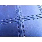 RE.ACT -リアクト- 国内でなめしたタンロー革を藍染め!パッチワーク型押しした2つ折りショートウォレット 日本製