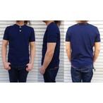pure blue japan -ピュアブルージャパン- インディゴ先染めスーピマコットン糸で編み立てたヘンリーネックT半袖シャツ 日本製