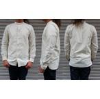 ORGUEIL-オルゲイユ- ヴィンテージオックス使用!バンドカラーシャツ ホワイト  日本製