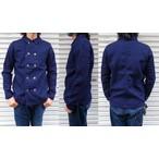 pure blue japan -ピュアブルージャパン- 2重織の凸凹素材!インディゴダブルブレストチョアジャケット 日本製