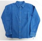 Vanilla Box 別注!桃太郎ジーンズ  コットンリネンの刺し子サッカーシャツ 本藍染め 日本製