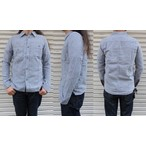 pure blue japan -ピュアブルージャパン- 柔らかに織り上げたWガーゼ素材!インディゴストライプシャツ 日本製