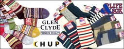 GLENCLYDE-グレンクライド/-CHUP-チュプ-/&LIFESOX-アンドライフソックス-